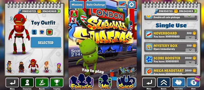 Subway Surfers Mod Apk v1.110.0 With Unlimited Coins ...