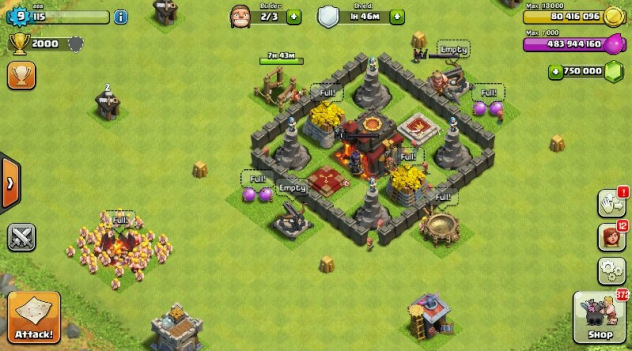Clash of Clans v 8.709.23 Android Para Hilesi Full Apk indir Pictures Of Clans